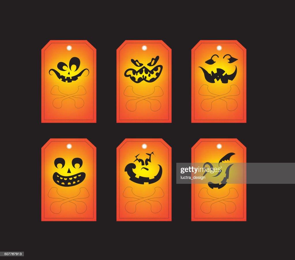 Chalkboard halloween gift tags