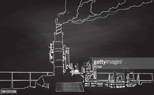 Chalkboard Industrial Pollustion