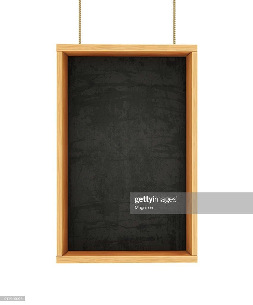 Chalkboard on Ropes : stock illustration