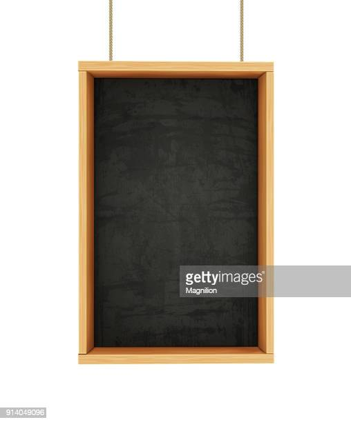 chalkboard on ropes - menu background stock illustrations