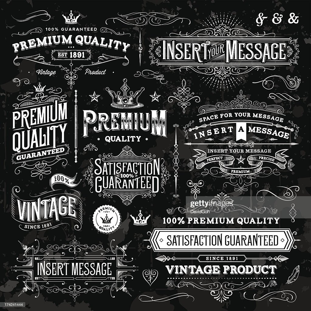 Chalkboard Ornate Vintage Elements