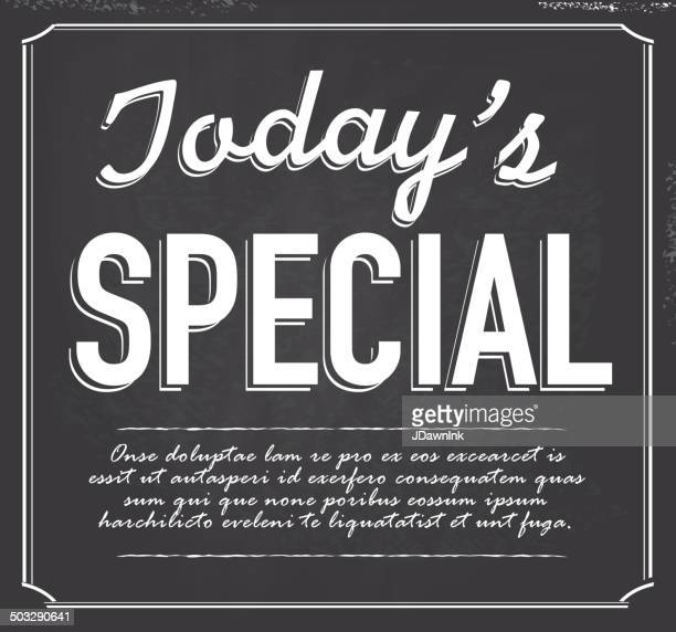 chalkboard retro style text template today's special design - today single word stock illustrations