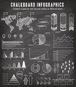 Chalkboard Sketch Infographics Set