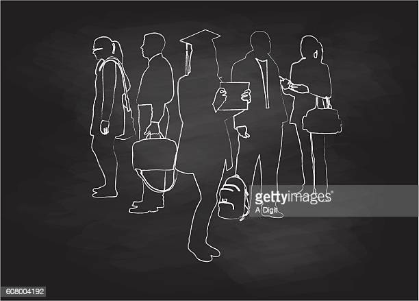 Chalkboard Student Graduation Group