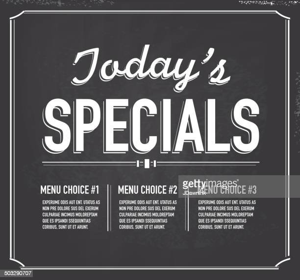 illustrations, cliparts, dessins animés et icônes de style de tableau modèle de texte aujourd'hui un design spécial - menu