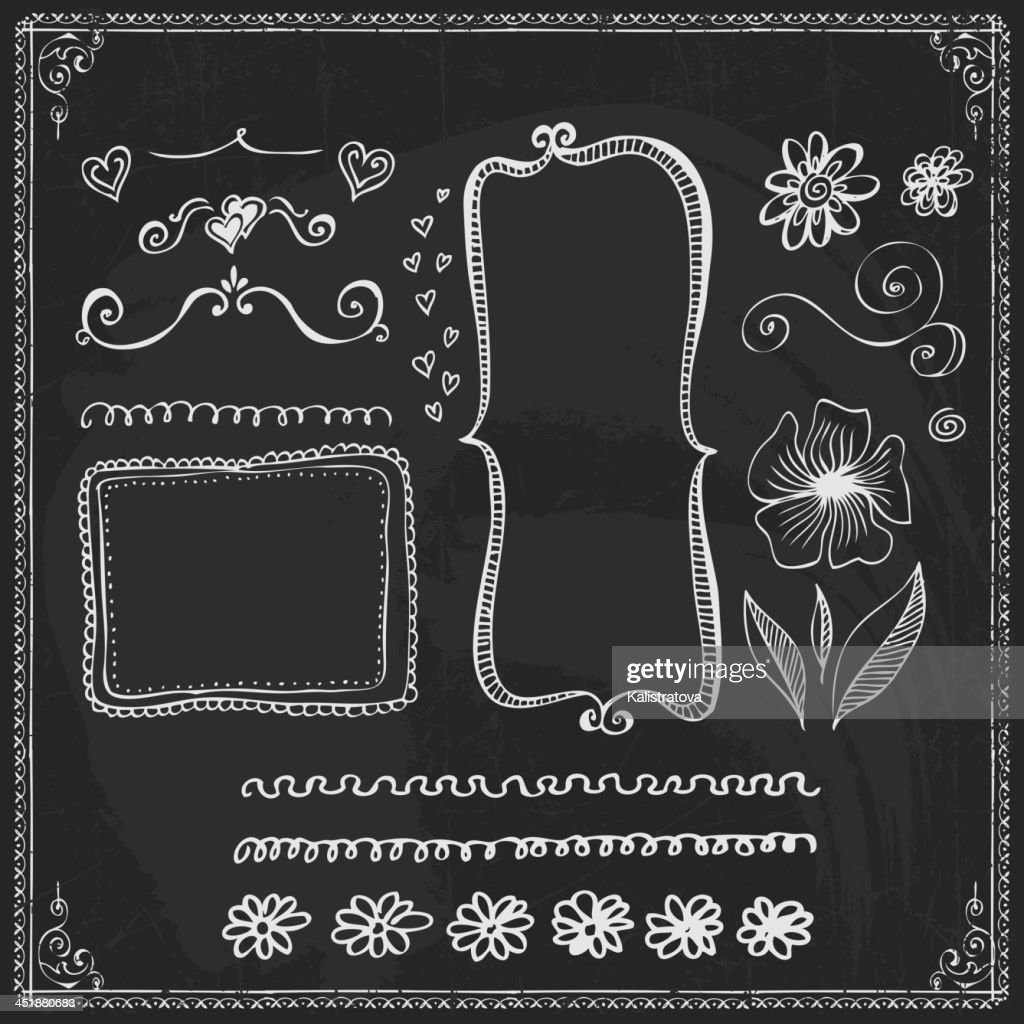 Chalkboard Style Vintage Design Element