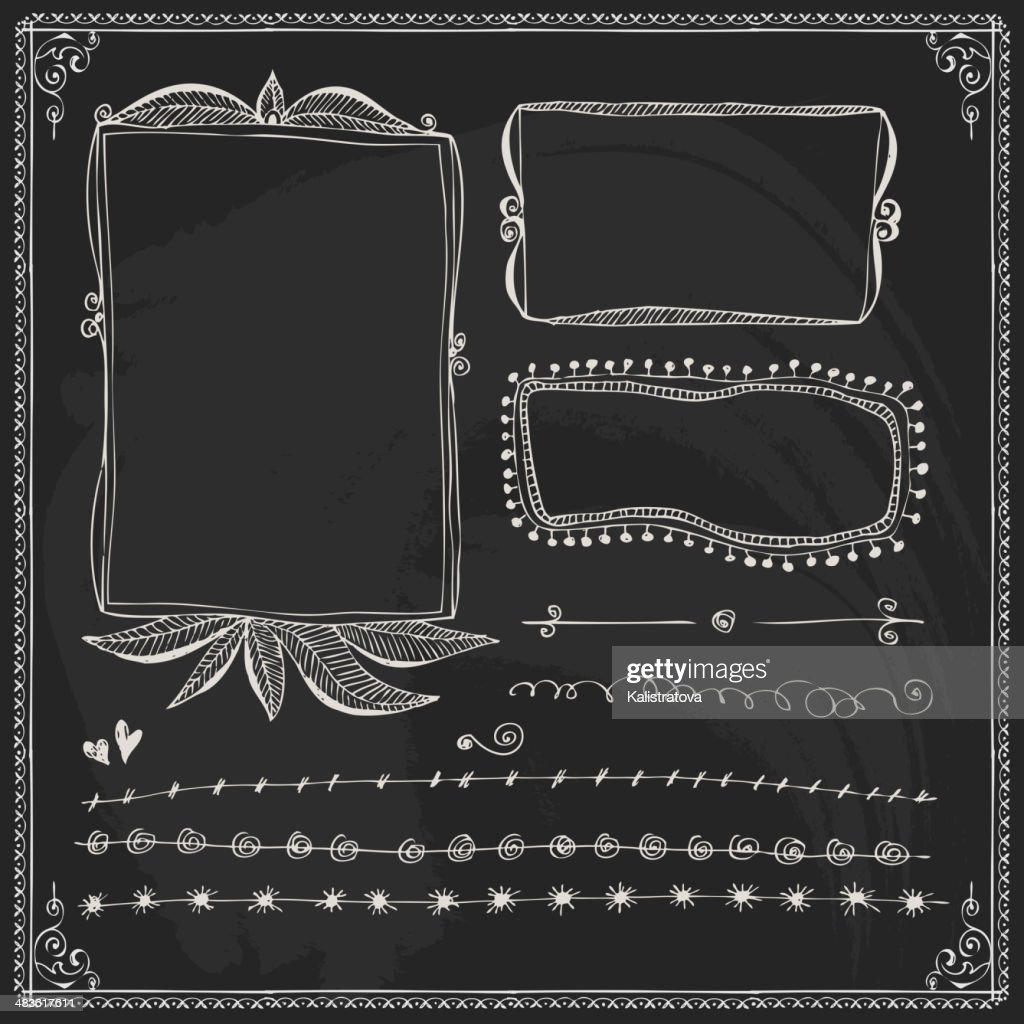 Chalkboard Style Vintage Design Element