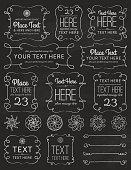 Chalkboard Swirl Frames & Elements