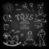 Chalkboard toys for girls and boys