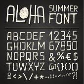ALOHA SUMER HAND DRAWN FONT - chalkboard