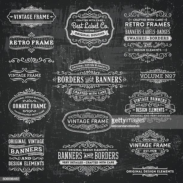Chalkboard Vintage Frames, Banners y distintivos