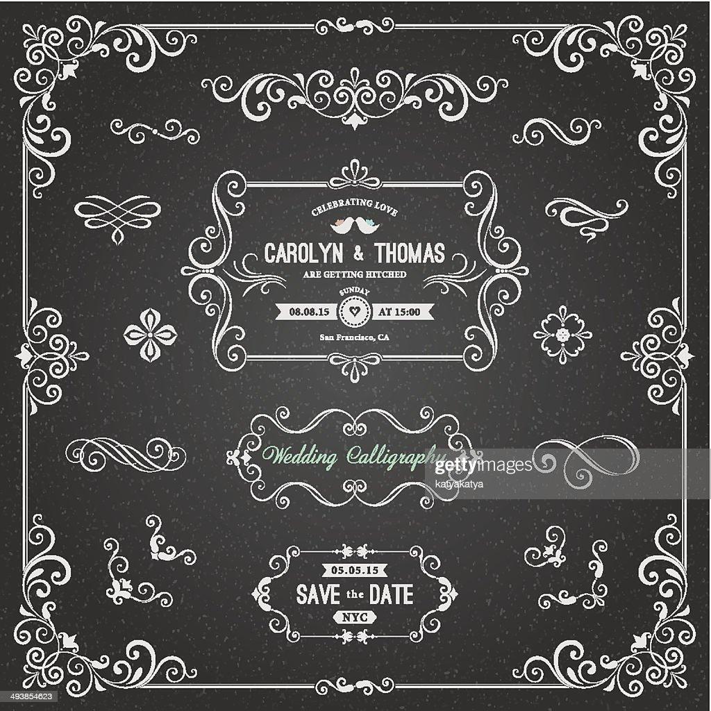 Chalkboard Wedding Calligraphy