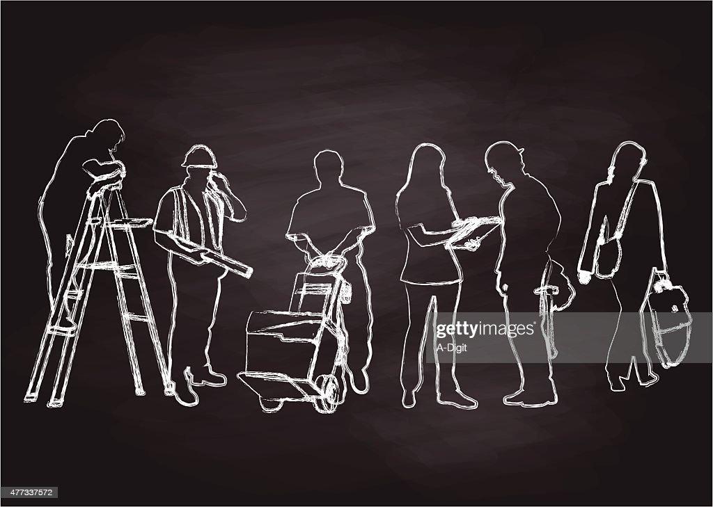 Chalkboard Workers