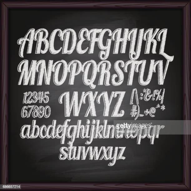 Chalked drawing letters