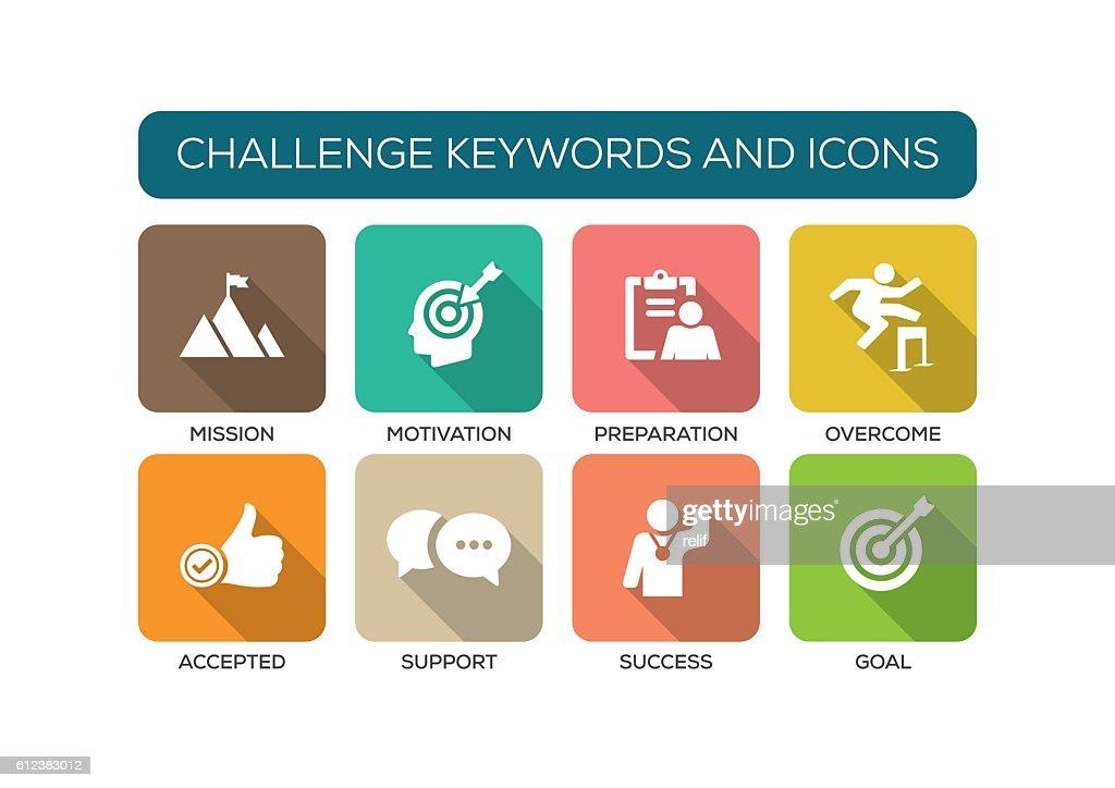 Challenge Flat Icon Set