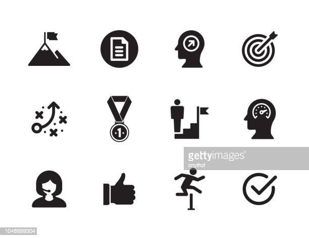 challenge icon set - freedom stock illustrations, clip art, cartoons, & icons
