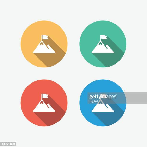 challenge multi colored flat icon - courage stock illustrations, clip art, cartoons, & icons