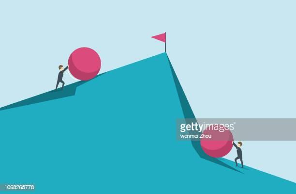 challenge - adversity stock illustrations