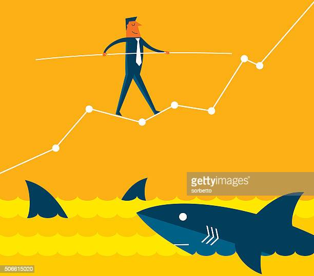 challenge - risk stock illustrations