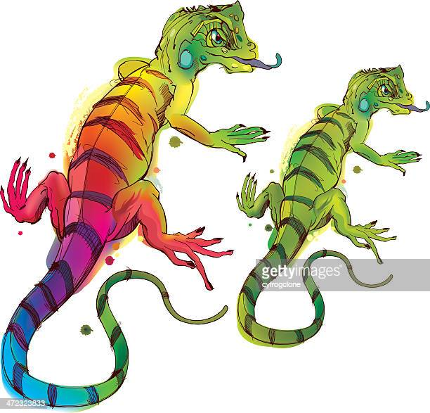 chameleon - animal scale stock illustrations, clip art, cartoons, & icons