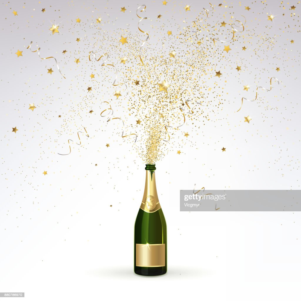 Champagne and Gold Confetti