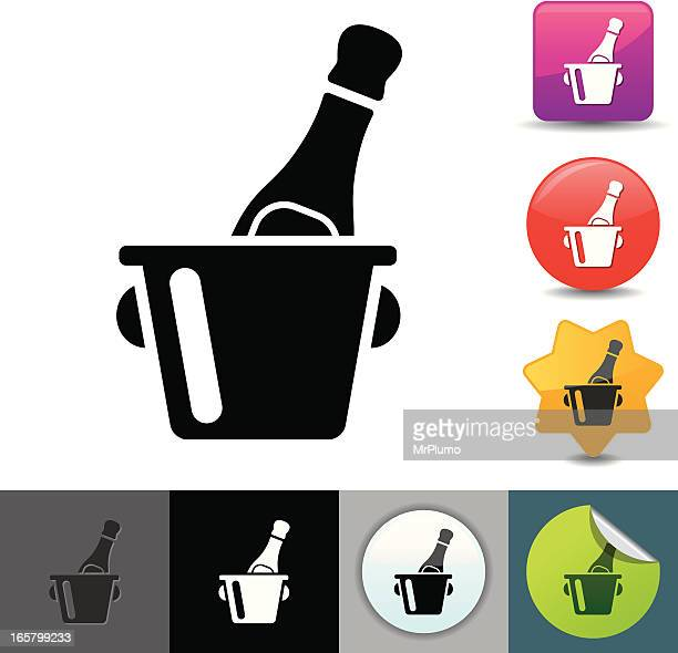 champagne bucket icon | solicosi series - ice bucket stock illustrations, clip art, cartoons, & icons