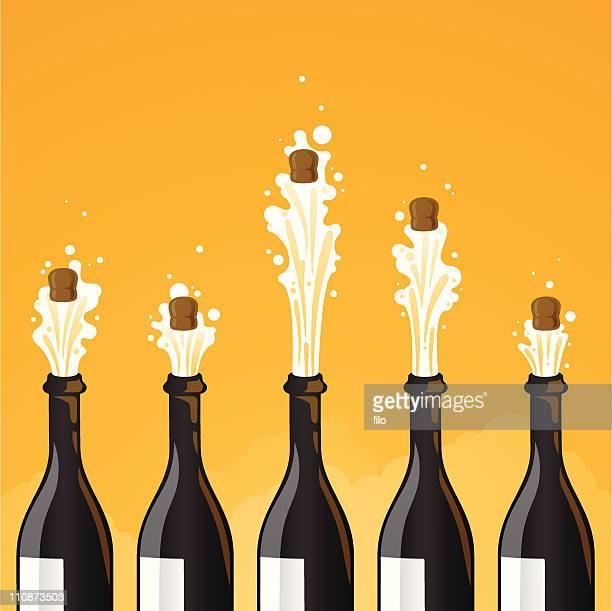 champagne celebration - champagne stock illustrations