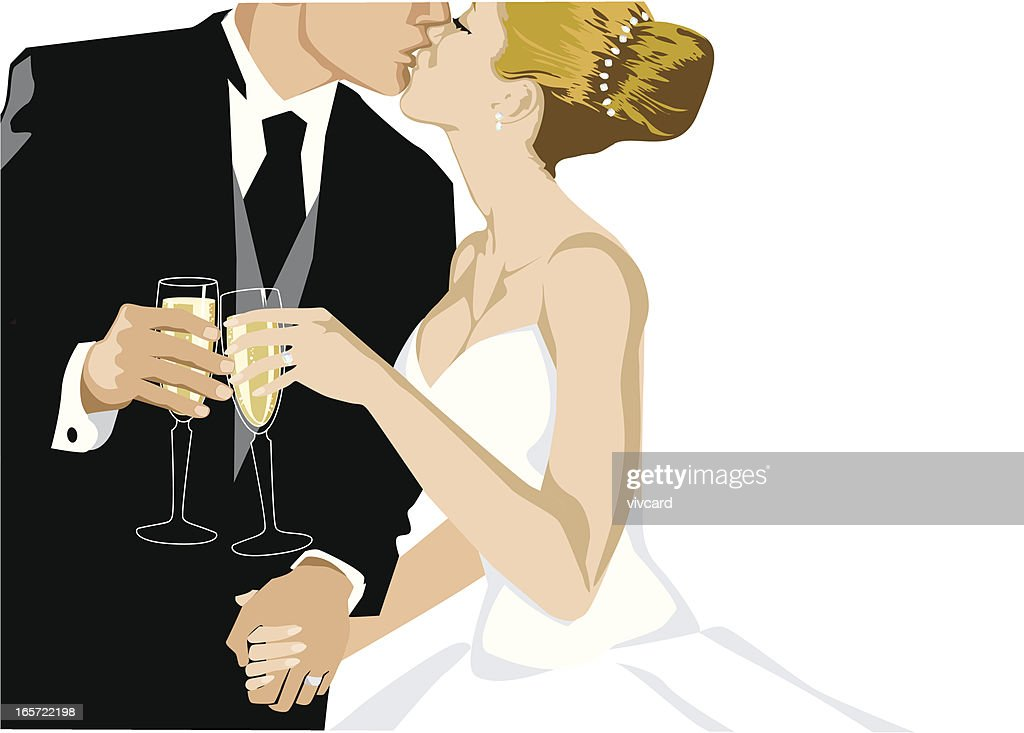 Champagne Toast : stock illustration