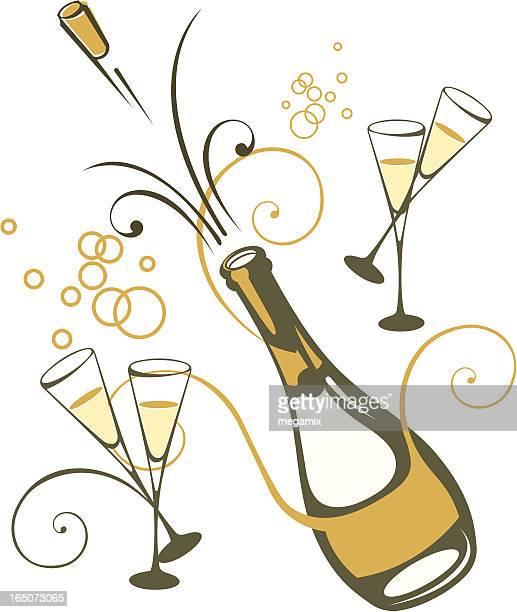 illustrations, cliparts, dessins animés et icônes de champagne. - aperitif dinatoire