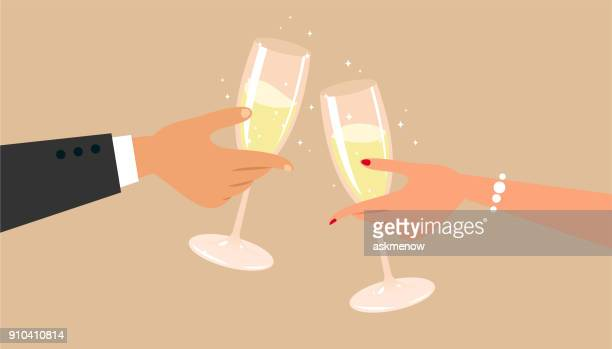 champagne - champagne stock illustrations