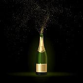 Champagne with Gold Confetti