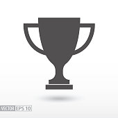Champions cup. Sign trophy cup