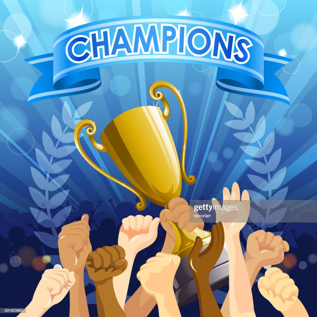 Championship Celebration : Stock Illustration
