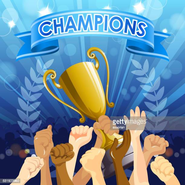 championship celebration - applauding stock illustrations, clip art, cartoons, & icons