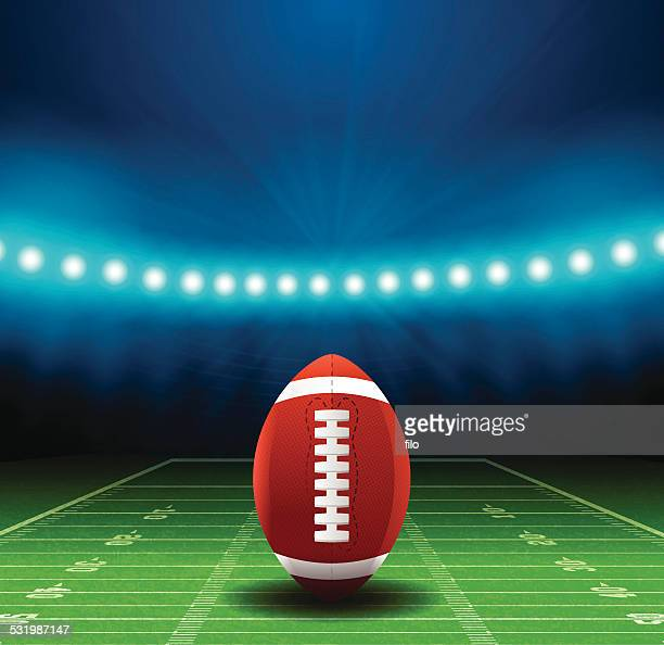 superbowl football field background - football field stock illustrations, clip art, cartoons, & icons