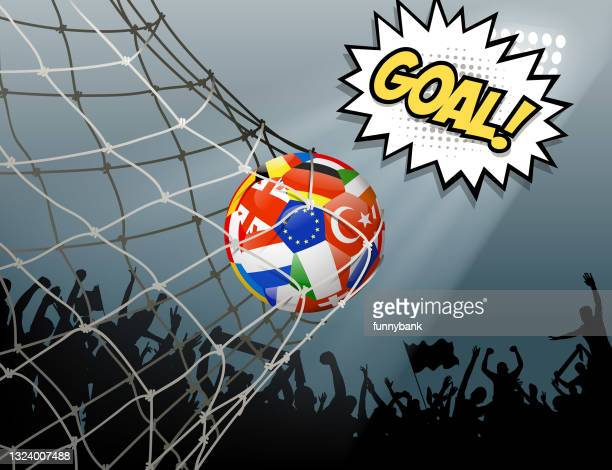 championship goal - soccer competition stock illustrations