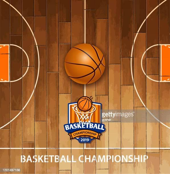 illustrations, cliparts, dessins animés et icônes de signe de championnat - ballon de basket