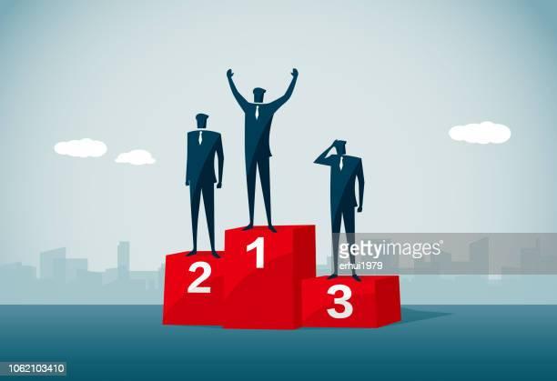 ilustraciones, imágenes clip art, dibujos animados e iconos de stock de campeonato - winners podium