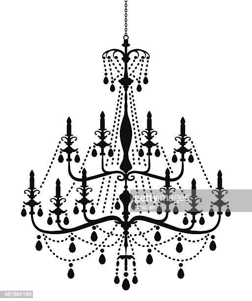Ilustraciones de stock y dibujos de chandelier getty images chandelier silueta en estilo victoriano aloadofball Images