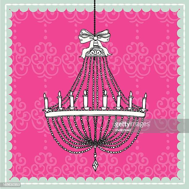 stockillustraties, clipart, cartoons en iconen met chandelier - gekarteld
