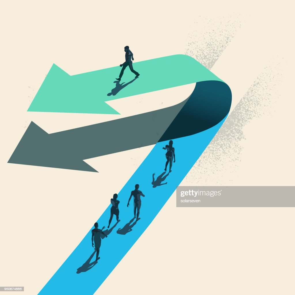 A Change of Direction : stock illustration