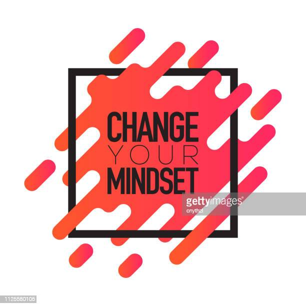 Change Your Mindset. Inspiring Creative Motivation Quote Poster Template. Vector Typography - Illustration