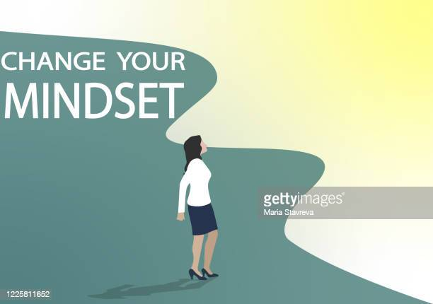 change your mindset. - hysteria stock illustrations