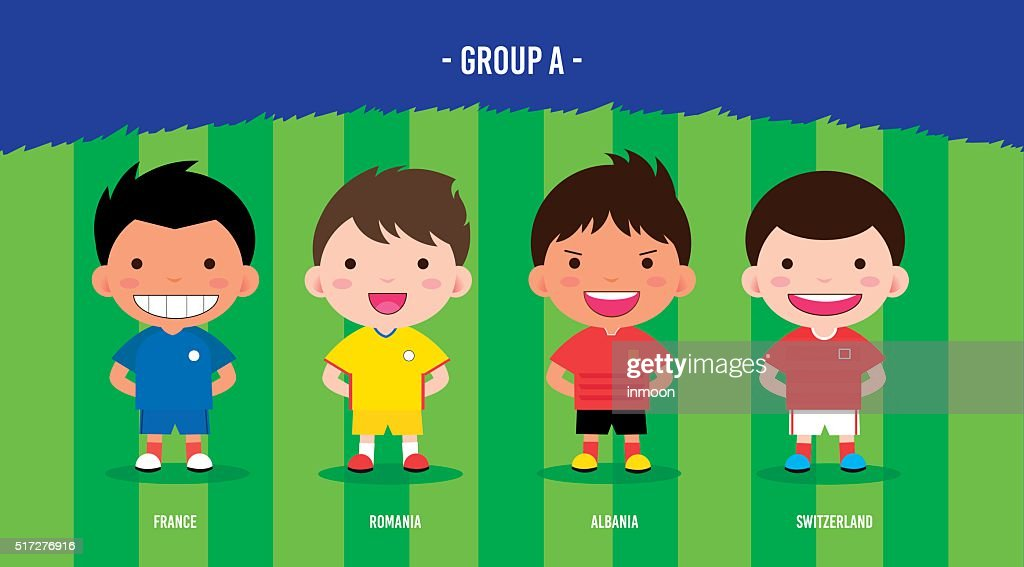 Character design with soccer football players