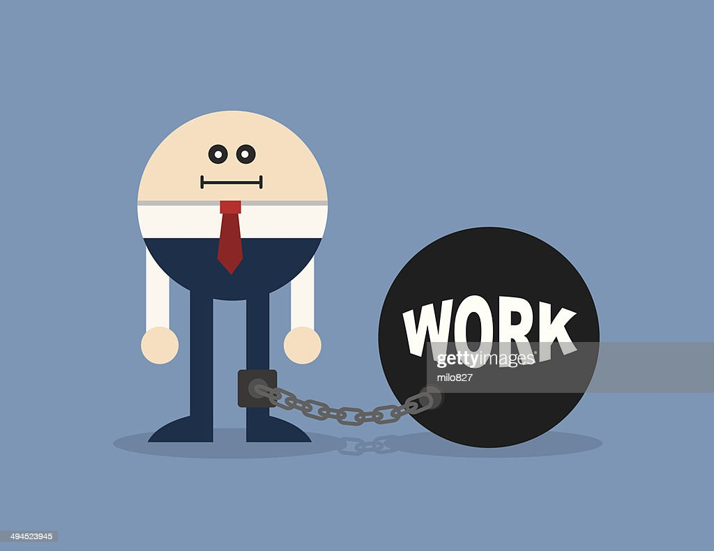 Character Locked In Work Ball And Chain