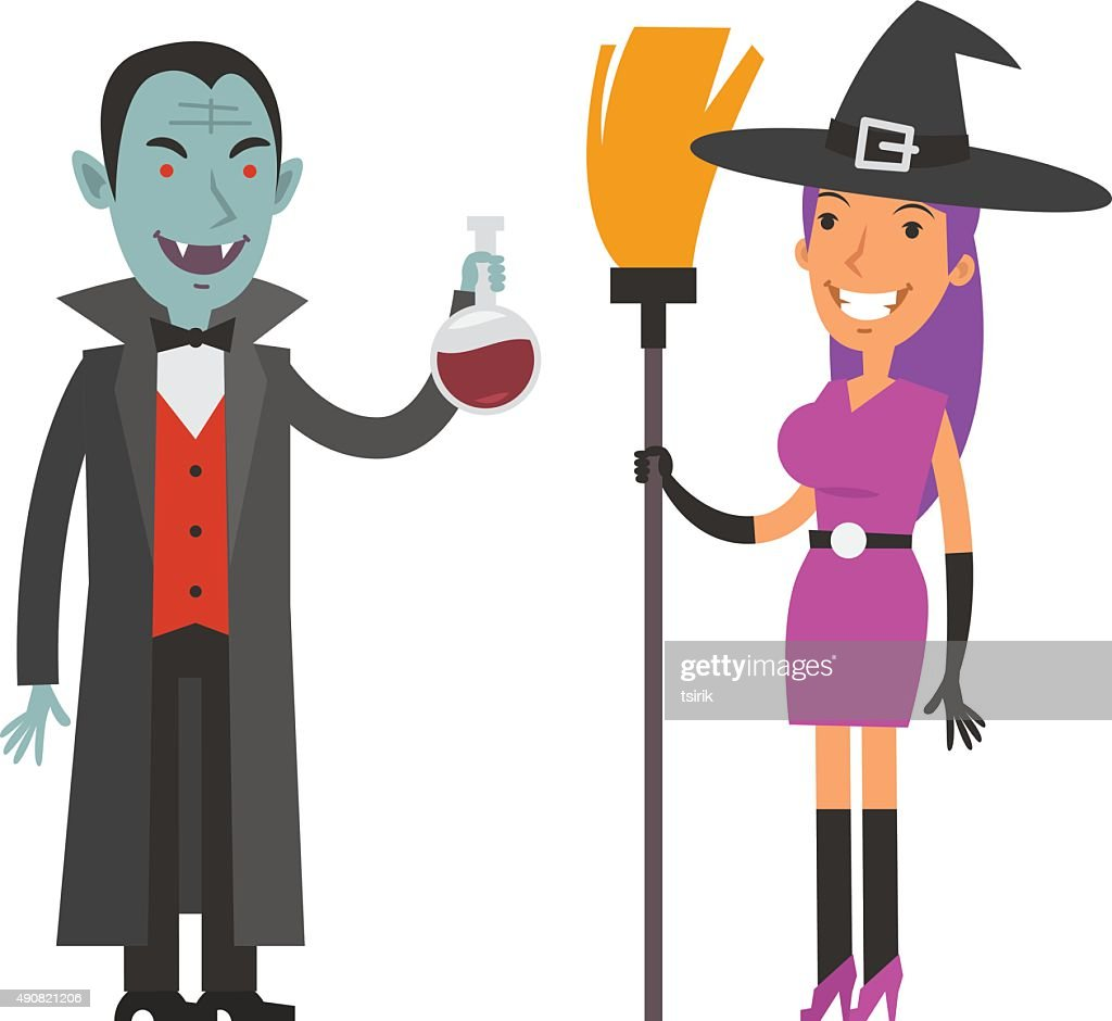 Characters Dracula and Witch