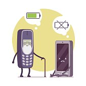Charged phone and dead smartphone