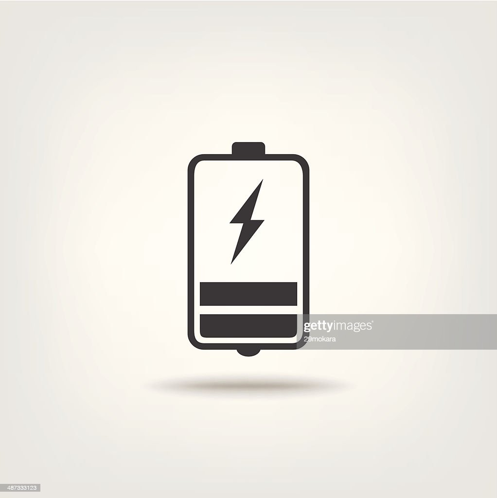Charging battery status sign icon