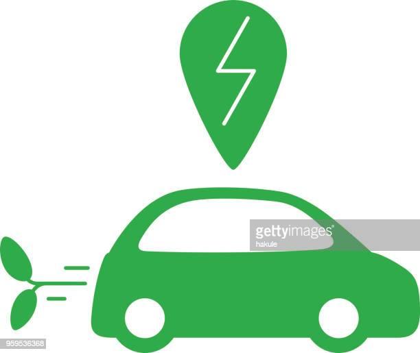 ilustraciones, imágenes clip art, dibujos animados e iconos de stock de coche de carga con aire limpio, sin dióxido de carbono - gas de efecto invernadero