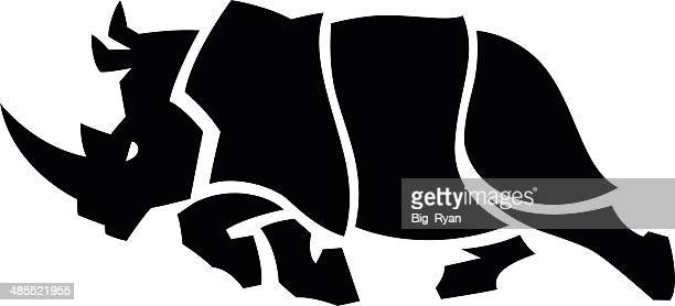 charging rhino - animals charging stock illustrations, clip art, cartoons, & icons